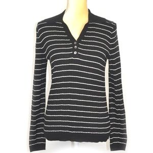 Tommy Hilfiger Womens Striped Long Sleeve Tee M